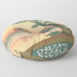 Vintage poster - Orleans Floor Pillow