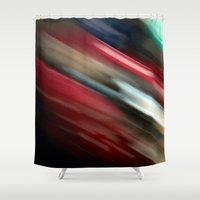 northern lights Shower Curtains featuring Northern Lights by Wolf Feather