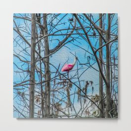 The Rose in the Tree Metal Print