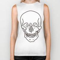 skeleton Biker Tanks featuring Skeleton by FACTORIE