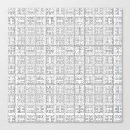 Fretwork Pattern Canvas Print