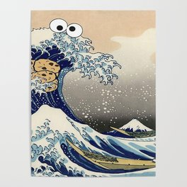 Great Wave off Kanagawa purple T-Shirt Poster