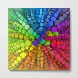 Rainbow Spots Sun Metal Print