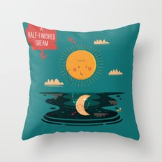 :::A Half-Finished Dream::: Throw Pillow