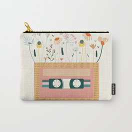 Nectarine Botanical Cassette Tape Carry-All Pouch