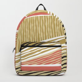 Modern irregular Stripes 05 Backpack