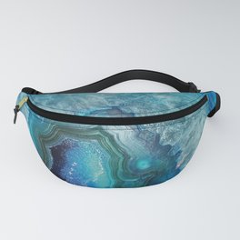 Aqua Turquoise Crystal Mineral Gem Agate Fanny Pack