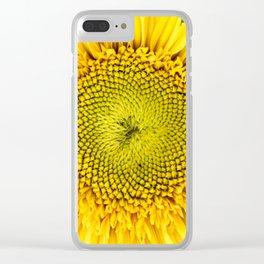 Teddy Bear Sunflower Center Clear iPhone Case