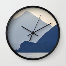 Brienz Lake At Sunset. Alps. Switzerland. Wall Clock