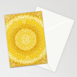 Golden Yellow Tapestry Mandala Stationery Cards