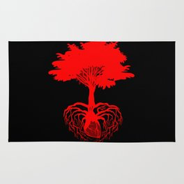 Heart Tree - Red Rug