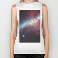 galaxy Biker Tanks featuring Galaxy by fly fly away