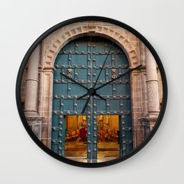 Faith Opens Doors Wall Clock