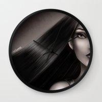 pocahontas Wall Clocks featuring Pocahontas by NikkiBeth
