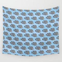 Piranhas pattern Wall Tapestry