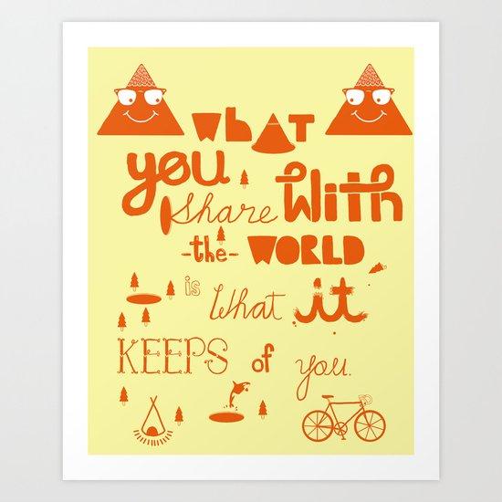 keeps of you Art Print