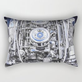 Hot Rod Blue, Automotive Art with Lots of Chrome by Murray Bolesta Rectangular Pillow