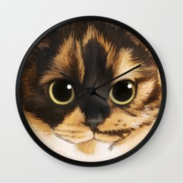 Round Cat - Lang Wall Clock