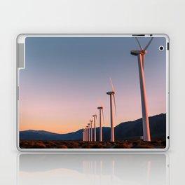 California Desert Windmills at Sunset with Mountain Vistas Laptop & iPad Skin