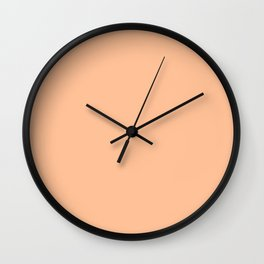 Peachy Apricot Solid Color Wall Clock