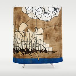 Living City #106 Shower Curtain