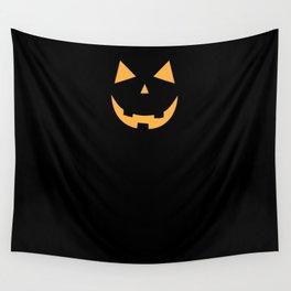 Minimal Jack o'lantern Wall Tapestry