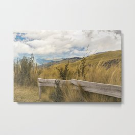 Trekking Road at Andes Range in Quito Ecuador  Metal Print