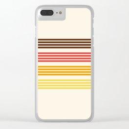 Hidenaga - Classic Retro Stripes Clear iPhone Case