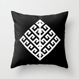 Yggdrasil - White Throw Pillow