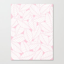 Leaves in Rose Canvas Print