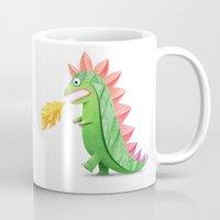 godzilla Mugs featuring Godzilla by Keyspice