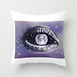 moony eye Throw Pillow