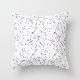 Pink Lavender & Thyme Throw Pillow