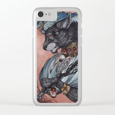 Jack of Spades art print Clear iPhone Case