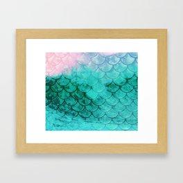 Mermaid Abstract Framed Art Print