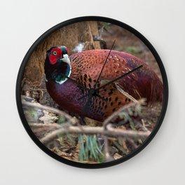woodland pheasant Wall Clock