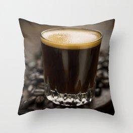 Espresso Shot Throw Pillow