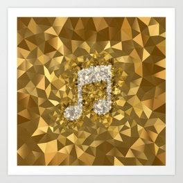 POLYNOID Music / Gold Edition Art Print