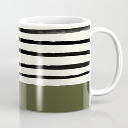 Olive Green x Stripes Coffee Mug