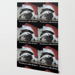 Christmas St Bernard dog Wallpaper