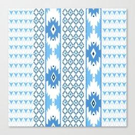 Navajo Glam _ Blue Canvas Print