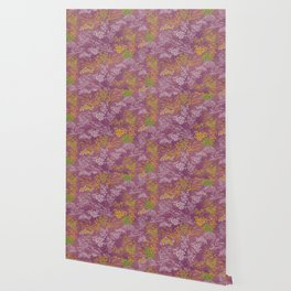 Japanese pattern floral purple Wallpaper