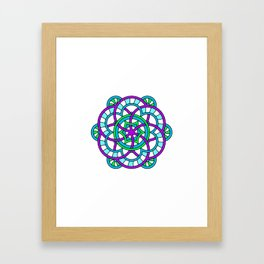 Celtic | Colorful | Mandala Framed Art Print