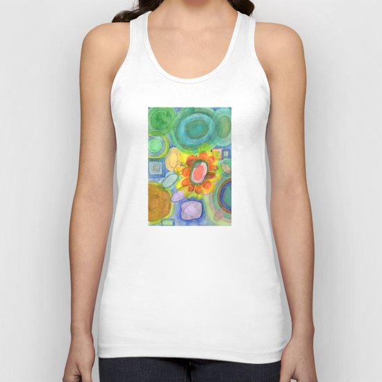 A closer Look at the Flower  Universe Unisex Tank Top