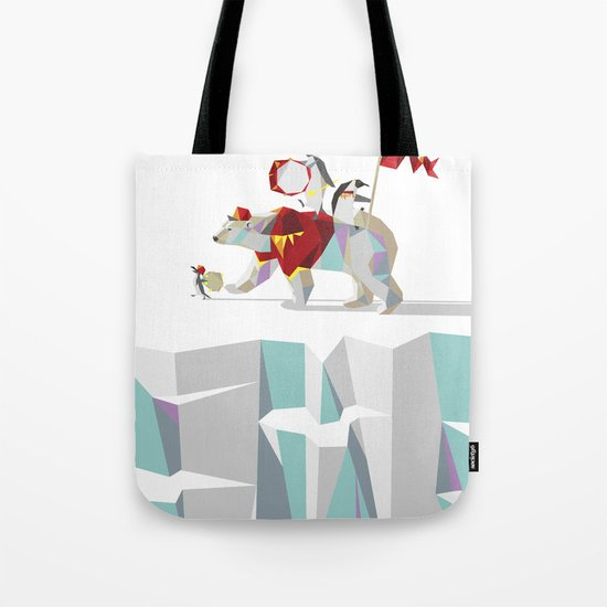 Private Penguin's Polar Percussion Tote Bag