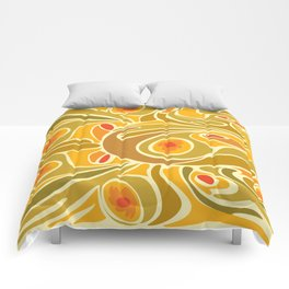 Rooster pattern in Yellow Goldenrod Comforters