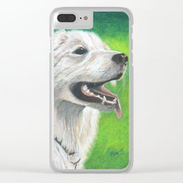 A Dog's Love Never Dies Clear iPhone Case
