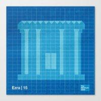 ezra koenig Canvas Prints featuring Ezra | 15 by The Minimum Bible