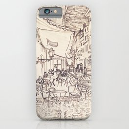 Cafe Terrace at Night (sketch) iPhone Case