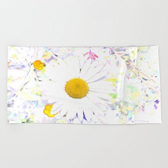 Bright Floral Beach Towel